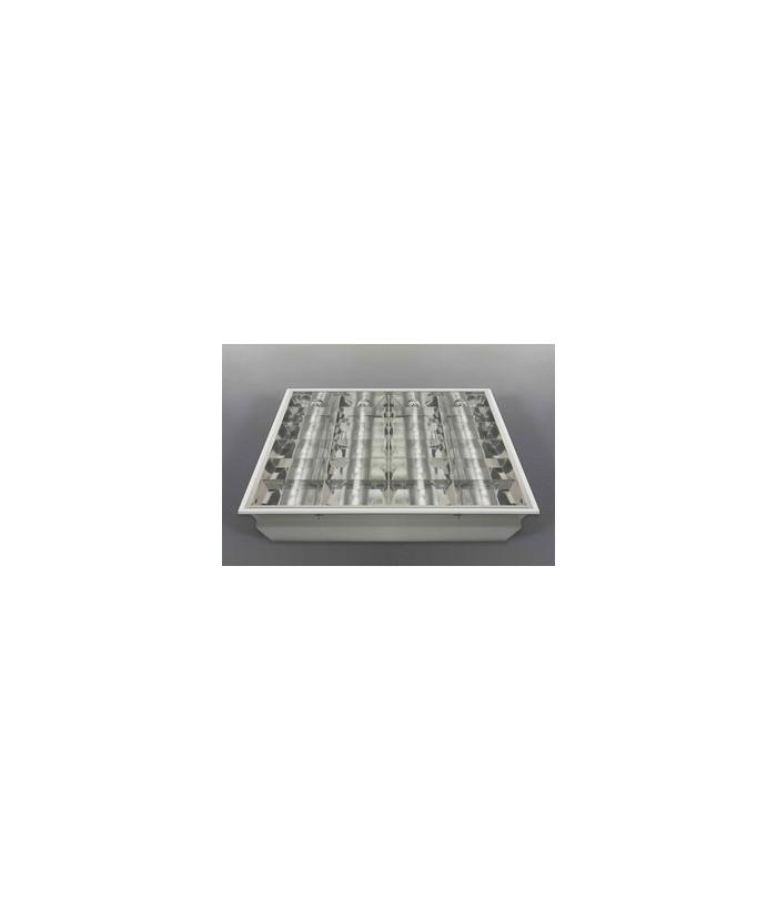 Растровый светильник ЛВО 4х18-CSVT-EM с лампами