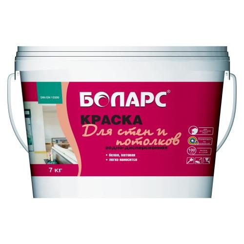 Краска в/д для стен и потолков белая 40 кг