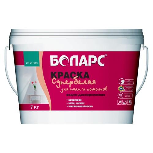Краска в/д стен и потолков супербелая 15 кг(вед)