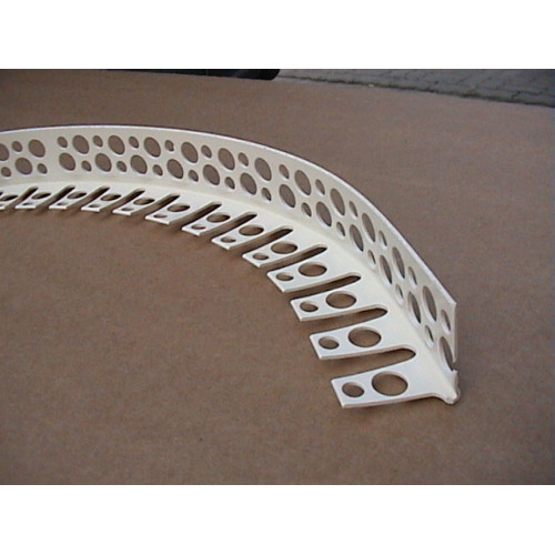 Уголок ПВХ арочный под штукатурку 24х24мм белый 3м