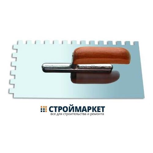Кельма-гладилка «888» 130x280мм, зубчатая 8х8,нерж. полир. сталь, дерев. ручка «Стандарт»