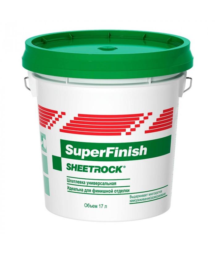 Шпатлевка готовая «Sheetrock SuperFinish» (28кг/17л)