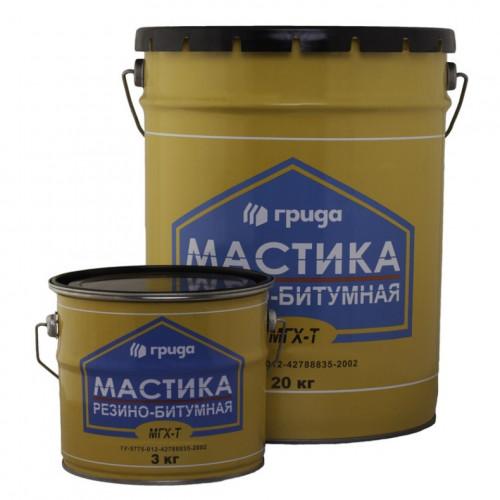 Мастика резино-битумная МГХ-Т 18кг/20л