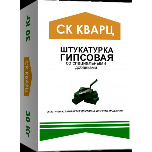 Штукатурка гипсовая (серая) РН 30 кг СК КВАРЦ